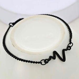 Jewelry - Black echocardiogram bracelet